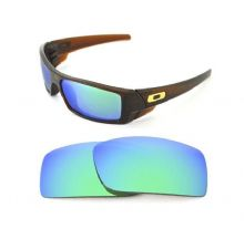 NEW POLARIZED CUSTOM GREEN LENS FOR OAKLEY GASCAN SUNGLASSES
